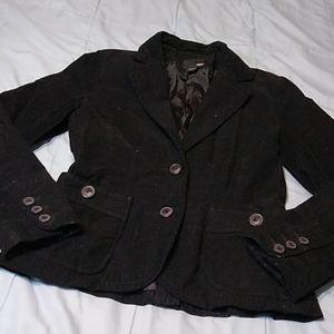 H & M Black Corduroy Jacket Size 8